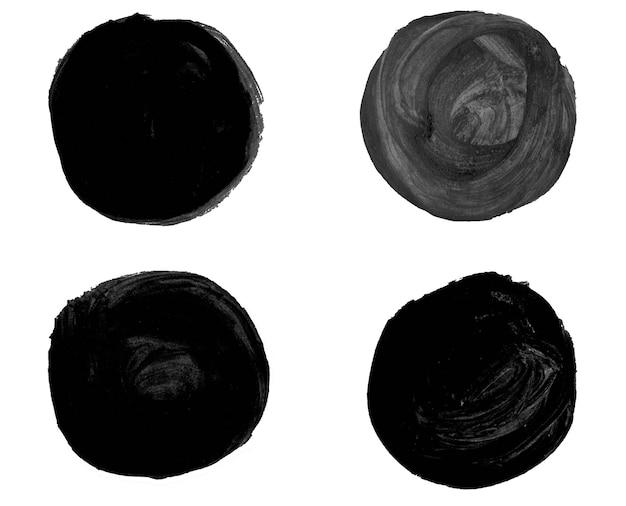 Bellissimi elementi di disegno dell'acquerello isolati su priorità bassa bianca.