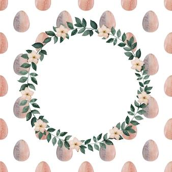 Bellissimo disegno ad acquerello di uova di pasqua.