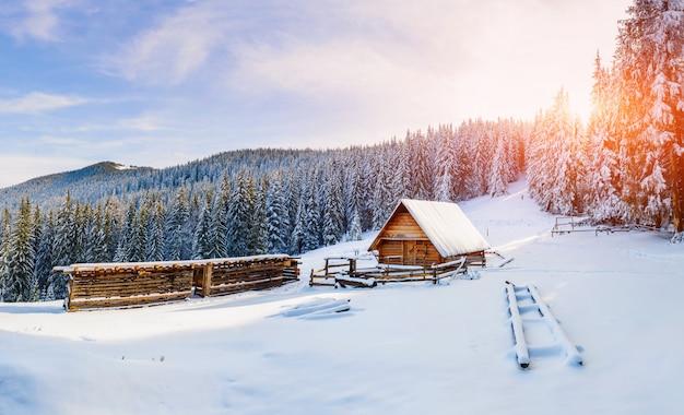 Bella casa in legno