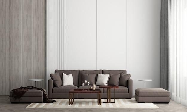 L'interior design del fondo di struttura del muro di mattoni e della camera da letto