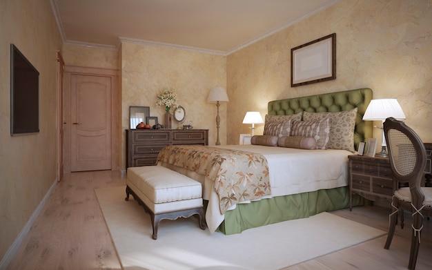 Camera da letto in stile classico Foto Premium