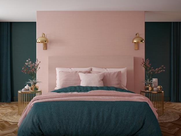 Interno camera da letto stile art déco.