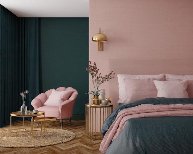 Interno camera da letto in stile art déco