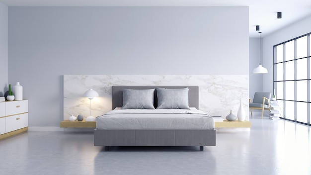 Camera da letto e stile loft moderno