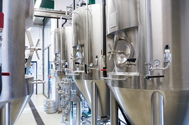 Distilleria di birra al birrificio