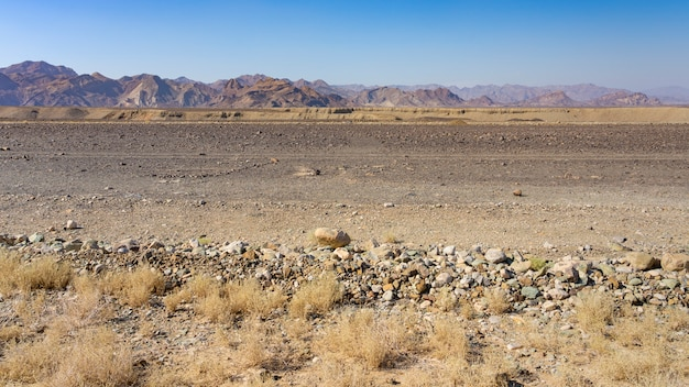 L'inizio della rift valley nella depressione di danakil in etiopia in africa.