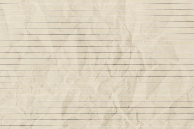 Sfondo di carta a righe stropicciata beige