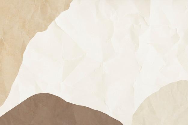 Elemento di design con cornice in carta stropicciata beige
