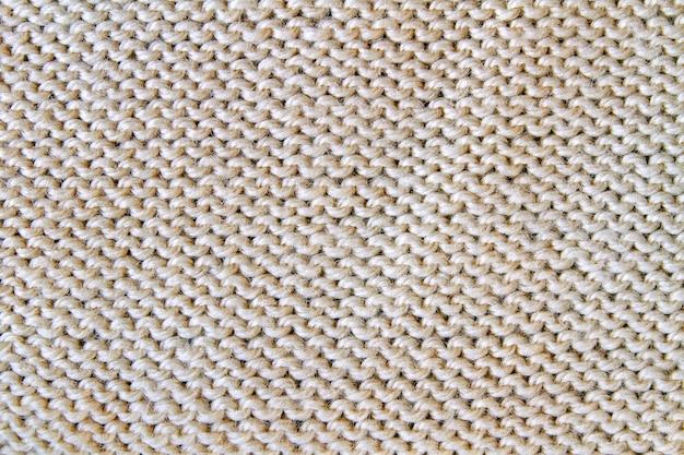 Tessuto strutturato lavorato a maglia beige