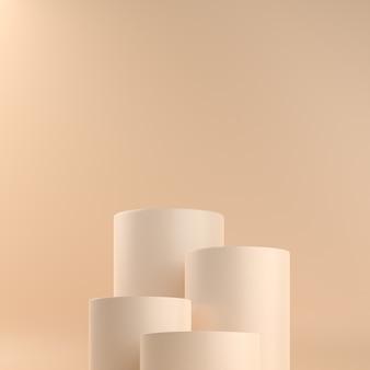 Piedistalli cilindro beige pastello