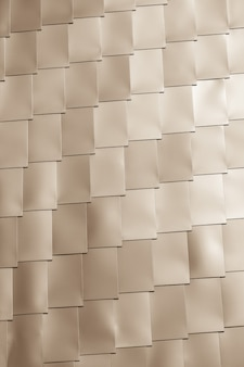 Fondo beige della parete delle mattonelle del vinile. scatto verticale con vignettatura