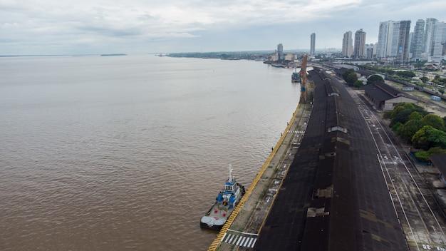Belém, par. brasile. circa nel maggio 2021: vista aerea di estaã§ã£o das docas a belã©m, parã¡, brasile.