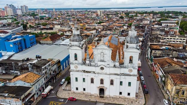 Belem, para, brasile - circa maggio 2021 - vista aerea della cattedrale metropolitana di belem o