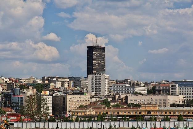 Capitale di belgrado della serbia sul danubio