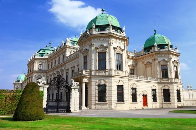 Palazzo del belvedere a vienna, austria viaggi e monumenti