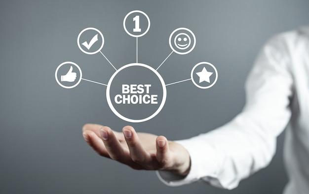 Scelta migliore. numero 1. concetto di affari