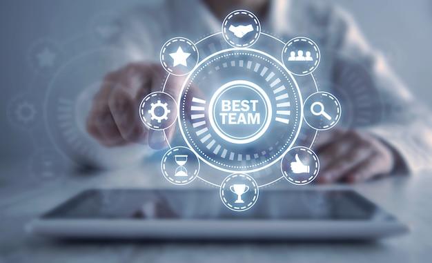 Miglior concetto di squadra. attività commerciale. lavoro di squadra