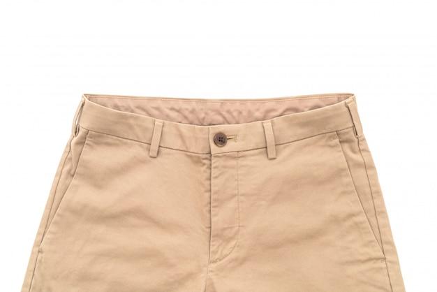 Pantalone biege su bianco