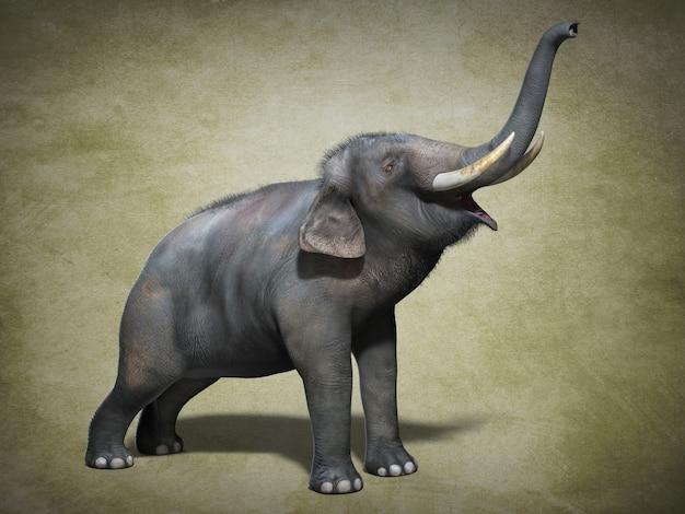 Grande elefante asiatico. illustrazione 3d