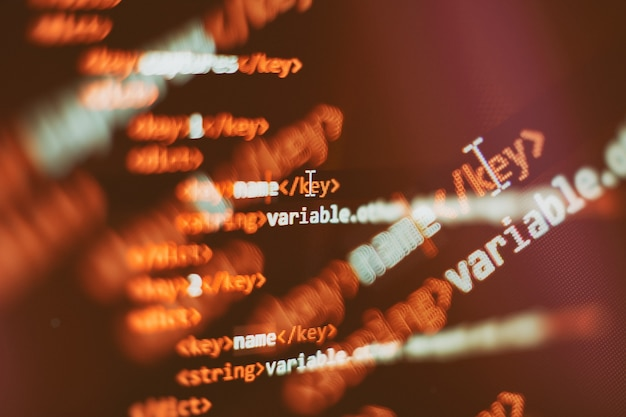 Archiviazione di big data e rappresentazione del cloud computing. codice di programmazione.