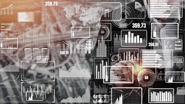 Big data technology per la finanza aziendale concettuale.