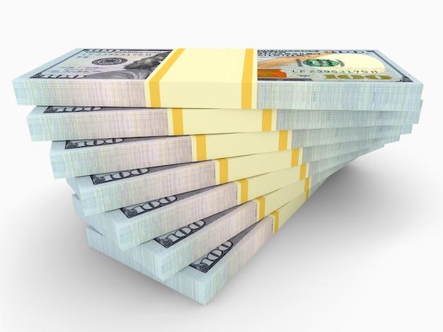 Grandi pile di soldi dai dollari