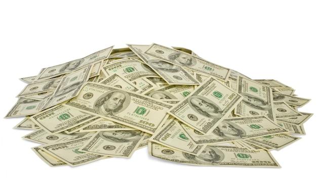Grande mucchio di soldi. pila di dollari americani