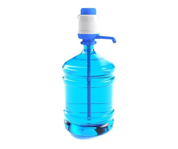 Grande bottiglia da un gallone di plastica con un manico