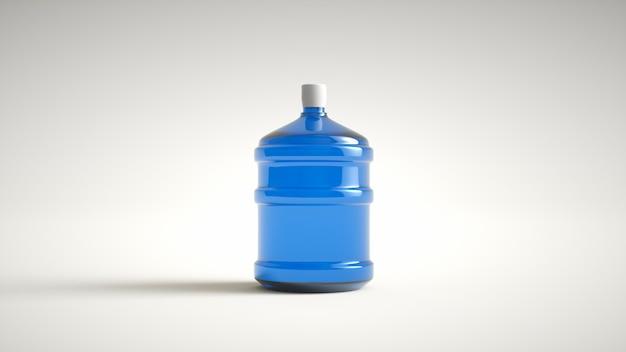 Acqua potabile della grande bottiglia di plastica isolata su una priorità bassa bianca. rendering 3d.
