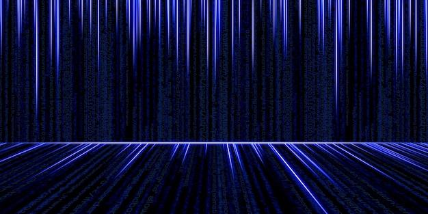 Codice binario hacker di sfondo dati binari hacking di computer tecnologia di informazioni binarie digitali