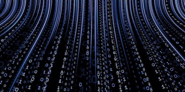 Codice binario hacker di sfondo dati binari computer hacking tecnologia del binario digitale