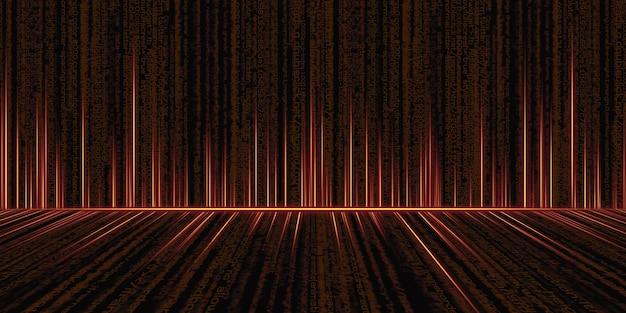 Sfondo del codice binario hacker dati binari computer hacking tecnologia schermo 3d illustrazione