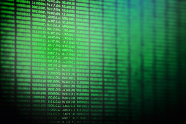 Codice binario chiudilo sfondo