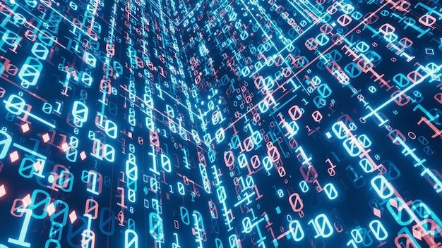 Sfondo di dati binari