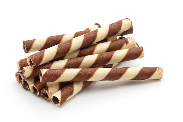 Bastoncini di wafer con crema al cioccolato