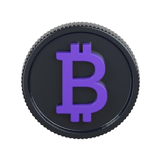 Icona di moneta bitcoin isolato su bianco