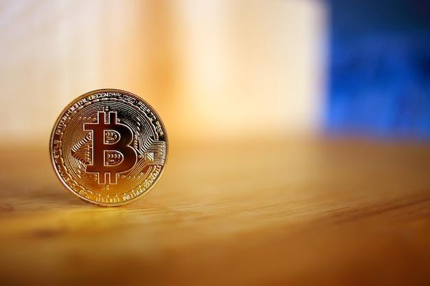 Criptovaluta bitcoin. concetto con bitcoin.