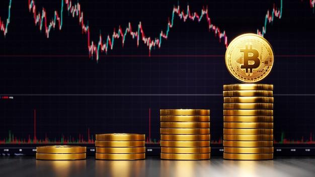 Sfondo di criptovaluta bitcoin
