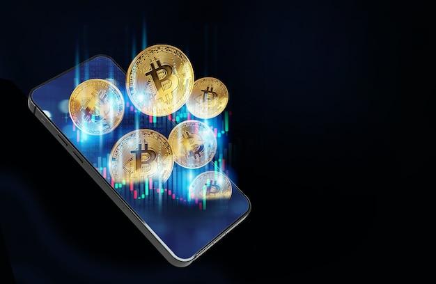 Concetto di mining di bitcoin