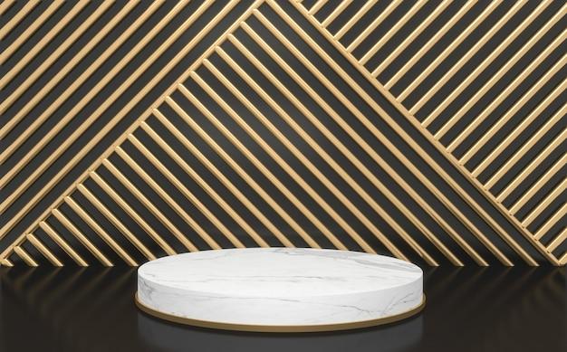Astratto nero e podio geometrico per la presentazione del prodotto. rendering 3d
