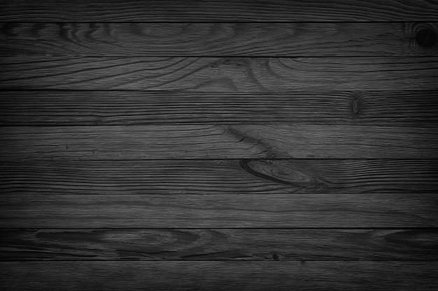 Fondo senza cuciture di struttura di legno invecchiato sfondo nero, tavolo in legno scuro