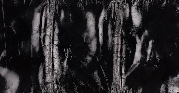 Sfondo nero e trama della superficie in pelle lucida