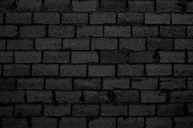 Muro di mattoni neri, sfondo in muratura per il design