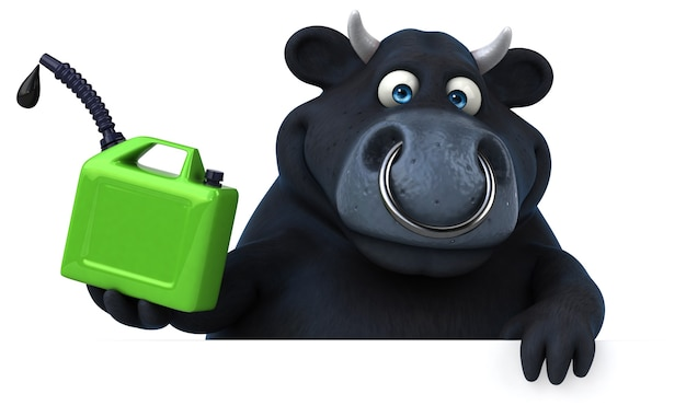 Toro nero - illustrazione 3d