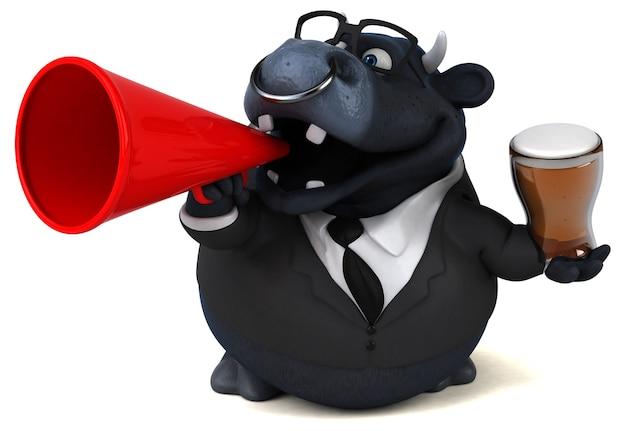 Illustrazione del toro nero