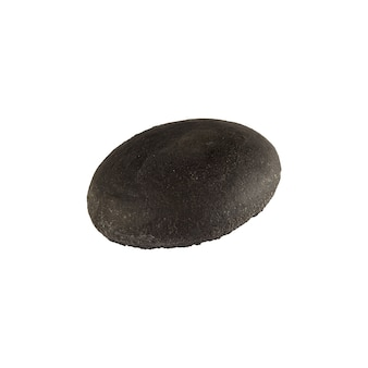 Panino hamburger nero vuoto isolato.