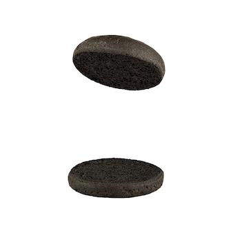 Panino hamburger nero vuoto