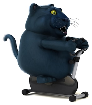 Gatto nero - illustrazione 3d