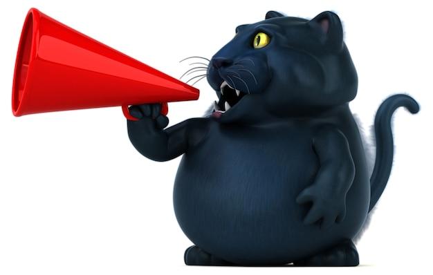 Illustrazione del gatto nero