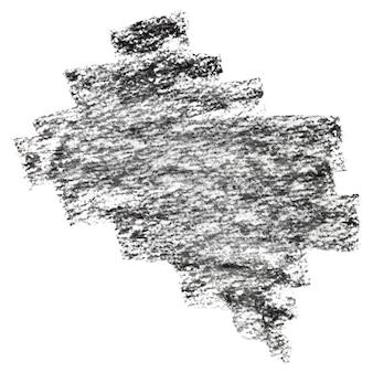 Tratti strutturati carbone nero su carta - sfondo astratto